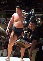 Hakuho and the Championship Sakura Cup